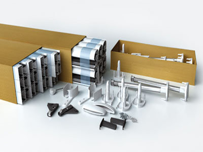 roller fly screen components