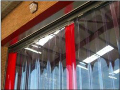 pvc strip mesh fly screen door